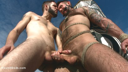 Photo number 8 from Hot Pursuit: Special Agent Chris Harder takes on Wolf Hudson shot for Bound Gods on Kink.com. Featuring Wolf Hudson and Chris Harder in hardcore BDSM & Fetish porn.