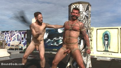 Photo number 10 from Hot Pursuit: Special Agent Chris Harder takes on Wolf Hudson shot for Bound Gods on Kink.com. Featuring Wolf Hudson and Chris Harder in hardcore BDSM & Fetish porn.