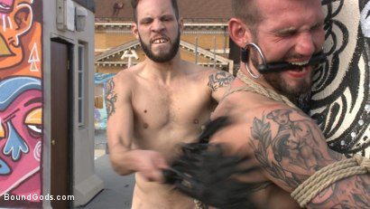 Photo number 11 from Hot Pursuit: Special Agent Chris Harder takes on Wolf Hudson shot for Bound Gods on Kink.com. Featuring Wolf Hudson and Chris Harder in hardcore BDSM & Fetish porn.