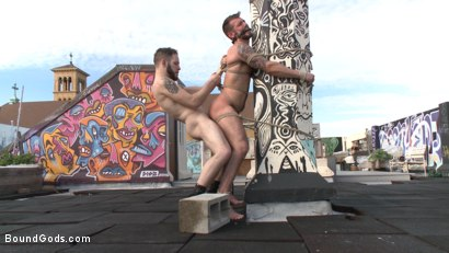 Photo number 12 from Hot Pursuit: Special Agent Chris Harder takes on Wolf Hudson shot for Bound Gods on Kink.com. Featuring Wolf Hudson and Chris Harder in hardcore BDSM & Fetish porn.