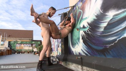 Photo number 13 from Hot Pursuit: Special Agent Chris Harder takes on Wolf Hudson shot for Bound Gods on Kink.com. Featuring Wolf Hudson and Chris Harder in hardcore BDSM & Fetish porn.