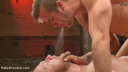 Photo number 13 from Chris Burke vs. Connor Patricks shot for nakedkombat on Kink.com. Featuring Connor Patricks and Chris Burke in hardcore BDSM & Fetish porn.