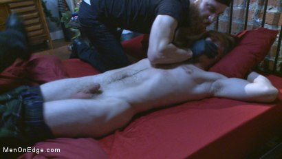 Photo number 2 from Straight hunk gets an edging surprise for the holidays! shot for Men On Edge on Kink.com. Featuring Zach Clemens in hardcore BDSM & Fetish porn.