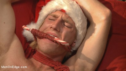 Photo number 9 from Straight hunk gets an edging surprise for the holidays! shot for Men On Edge on Kink.com. Featuring Zach Clemens in hardcore BDSM & Fetish porn.