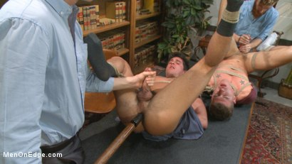 Photo number 9 from School punks take a double edging punishment shot for Men On Edge on Kink.com. Featuring JJ Knight and Jett Jax in hardcore BDSM & Fetish porn.