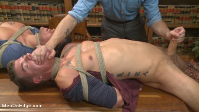 Photo number 3 from School punks take a double edging punishment shot for Men On Edge on Kink.com. Featuring JJ Knight and Jett Jax in hardcore BDSM & Fetish porn.