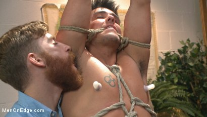 Photo number 11 from School punks take a double edging punishment shot for Men On Edge on Kink.com. Featuring JJ Knight and Jett Jax in hardcore BDSM & Fetish porn.