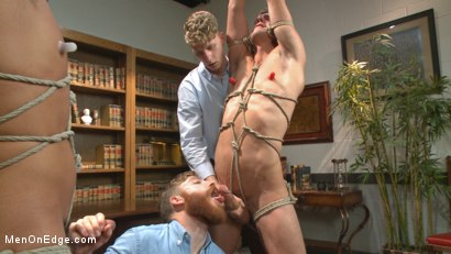 Photo number 14 from School punks take a double edging punishment shot for Men On Edge on Kink.com. Featuring JJ Knight and Jett Jax in hardcore BDSM & Fetish porn.
