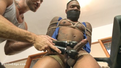 Photo number 3 from Big cock stud gets edged in the gym shot for Men On Edge on Kink.com. Featuring Aaron Reese in hardcore BDSM & Fetish porn.