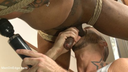 Photo number 9 from Big cock stud gets edged in the gym shot for Men On Edge on Kink.com. Featuring Aaron Reese in hardcore BDSM & Fetish porn.