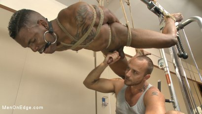 Photo number 10 from Big cock stud gets edged in the gym shot for Men On Edge on Kink.com. Featuring Aaron Reese in hardcore BDSM & Fetish porn.