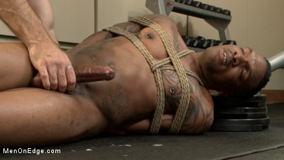 Photo number 13 from Big cock stud gets edged in the gym shot for Men On Edge on Kink.com. Featuring Aaron Reese in hardcore BDSM & Fetish porn.