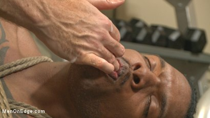 Photo number 14 from Big cock stud gets edged in the gym shot for Men On Edge on Kink.com. Featuring Aaron Reese in hardcore BDSM & Fetish porn.