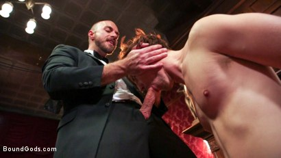 Photo number 4 from Scotty Zee's Submission  shot for Bound Gods on Kink.com. Featuring Scotty Zee and Jessie Colter in hardcore BDSM & Fetish porn.