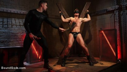 Photo number 5 from Connor Patricks at the mercy of Mr Ducati shot for Bound Gods on Kink.com. Featuring Trenton Ducati and Connor Patricks in hardcore BDSM & Fetish porn.
