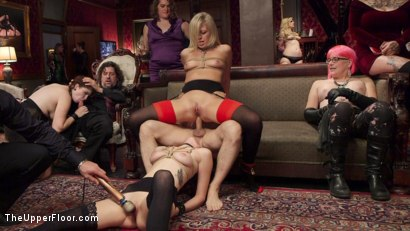 Photo number 13 from Bombshell Blond Anal Queen Trains New Slave Girl  shot for The Upper Floor on Kink.com. Featuring Zoey Monroe, John Strong and Samantha Hayes in hardcore BDSM & Fetish porn.