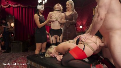 Photo number 15 from Bombshell Blond Anal Queen Trains New Slave Girl  shot for The Upper Floor on Kink.com. Featuring Zoey Monroe, John Strong and Samantha Hayes in hardcore BDSM & Fetish porn.