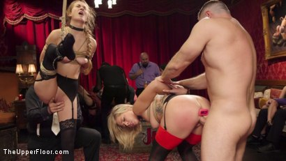 Photo number 17 from Bombshell Blond Anal Queen Trains New Slave Girl  shot for The Upper Floor on Kink.com. Featuring Zoey Monroe, John Strong and Samantha Hayes in hardcore BDSM & Fetish porn.