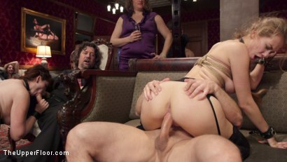 Photo number 6 from Bombshell Blond Anal Queen Trains New Slave Girl  shot for The Upper Floor on Kink.com. Featuring Zoey Monroe, John Strong and Samantha Hayes in hardcore BDSM & Fetish porn.
