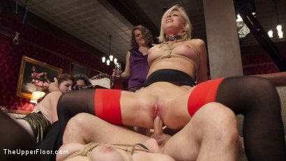 Photo number 7 from Bombshell Blond Anal Queen Trains New Slave Girl  shot for The Upper Floor on Kink.com. Featuring Zoey Monroe, John Strong and Samantha Hayes in hardcore BDSM & Fetish porn.