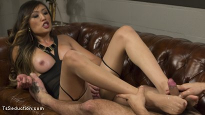 Photo number 5 from Bad Ass Boss Lady Venus Lux Gives DJ a Thorough Review! shot for TS Seduction on Kink.com. Featuring DJ and Venus Lux in hardcore BDSM & Fetish porn.