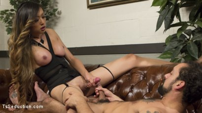 Photo number 7 from Bad Ass Boss Lady Venus Lux Gives DJ a Thorough Review! shot for TS Seduction on Kink.com. Featuring DJ and Venus Lux in hardcore BDSM & Fetish porn.
