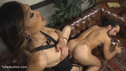 Photo number 4 from Bad Ass Boss Lady Venus Lux Gives DJ a Thorough Review! shot for TS Seduction on Kink.com. Featuring DJ and Venus Lux in hardcore BDSM & Fetish porn.