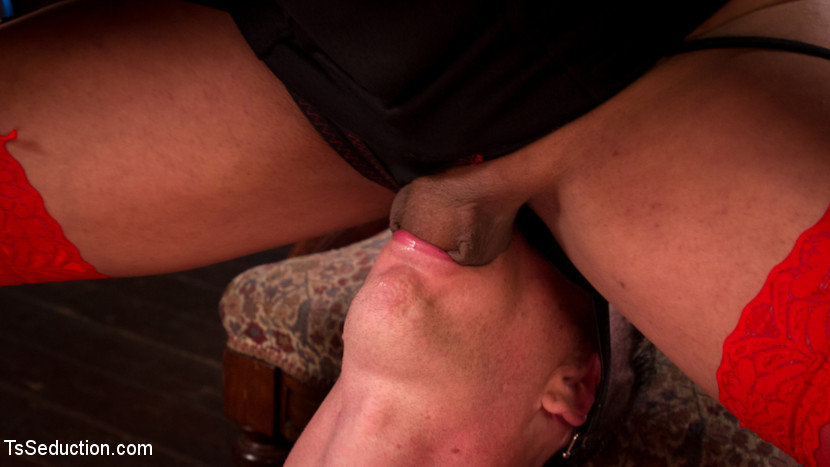 She Shoved Her Transgendered Cock Into My Man Mouth And Shoot Her Load 84