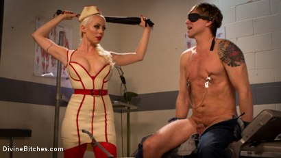 Photo number 1 from Savor the last taste of pussy you'll ever have, slaveboy! shot for Divine Bitches on Kink.com. Featuring Lorelei Lee and Damien Thorne in hardcore BDSM & Fetish porn.