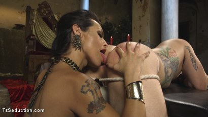 Photo number 6 from Goddess TS Foxxy shot for TS Seduction on Kink.com. Featuring Reed Jameson and TS Foxxy in hardcore BDSM & Fetish porn.