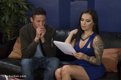 Photo number 1 from New roommate pays rent sucking TS Foxxy cock! shot for TS Seduction on Kink.com. Featuring TS Foxxy and Justin DeLeon in hardcore BDSM & Fetish porn.