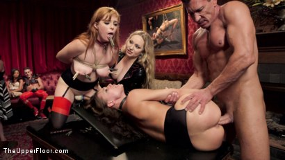 Photo number 3 from Sexy Anal Slaves Serve Holiday Orgy shot for The Upper Floor on Kink.com. Featuring Penny Pax, Audrey Holiday, Aiden Starr, Aidra Fox, Goldie Glock, Marco Banderas and John Strong in hardcore BDSM & Fetish porn.