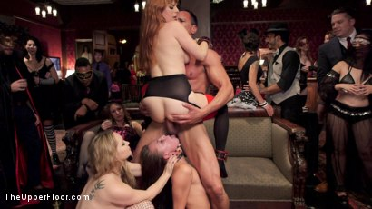 Photo number 2 from Sexy Anal Slaves Serve Holiday Orgy shot for The Upper Floor on Kink.com. Featuring Penny Pax, Audrey Holiday, Aiden Starr, Aidra Fox, Goldie Rush, Marco Banderas and John Strong in hardcore BDSM & Fetish porn.