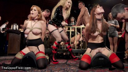 Photo number 8 from Sexy Anal Slaves Serve Holiday Orgy shot for The Upper Floor on Kink.com. Featuring Penny Pax, Audrey Holiday, Aiden Starr, Aidra Fox, Goldie Rush, Marco Banderas and John Strong in hardcore BDSM & Fetish porn.