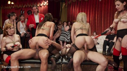 Photo number 9 from Slutty Slave Anal Orgy shot for The Upper Floor on Kink.com. Featuring Penny Pax, Audrey Holiday, Aiden Starr, Aidra Fox, Goldie Rush, Marco Banderas and John Strong in hardcore BDSM & Fetish porn.