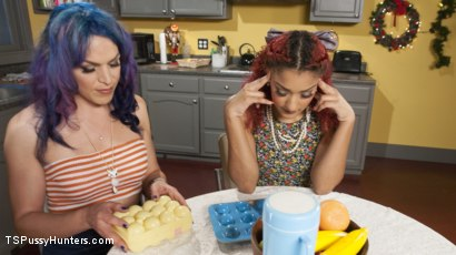 Photo number 2 from Bored Housewives Tupperware party turns into sweaty anal session shot for TS Pussy Hunters on Kink.com. Featuring Daisy Ducati and Kelli Lox in hardcore BDSM & Fetish porn.
