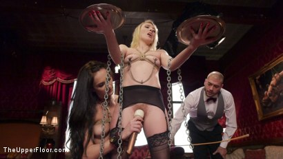 Photo number 10 from Exquisite Anal Whore & Butler Punish the New Meat shot for The Upper Floor on Kink.com. Featuring Bianca Breeze, Trillium and Xander Corvus in hardcore BDSM & Fetish porn.