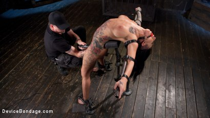 Photo number 15 from Tattooed Pain Slut Begs to Suffer in Diabolical Devices shot for Device Bondage on Kink.com. Featuring Lily Lane and The Pope in hardcore BDSM & Fetish porn.