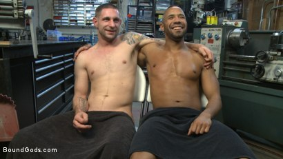 Photo number 15 from Zapped, Beaten & Fucked! - Lazy Shop Worker Takes His Punishment shot for Bound Gods on Kink.com. Featuring Jay Rising and Troy Sparks in hardcore BDSM & Fetish porn.