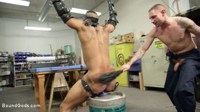 Photo number 10 from Zapped, Beaten & Fucked! - Lazy Shop Worker Takes His Punishment shot for Bound Gods on Kink.com. Featuring Jay Rising and Troy Sparks in hardcore BDSM & Fetish porn.