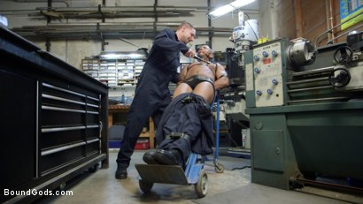 Photo number 1 from Zapped, Beaten & Fucked! - Lazy Shop Worker Takes His Punishment shot for Bound Gods on Kink.com. Featuring Jay Rising and Troy Sparks in hardcore BDSM & Fetish porn.