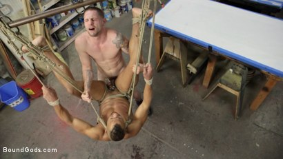 Photo number 13 from Zapped, Beaten & Fucked! - Lazy Shop Worker Takes His Punishment shot for Bound Gods on Kink.com. Featuring Jay Rising and Troy Sparks in hardcore BDSM & Fetish porn.