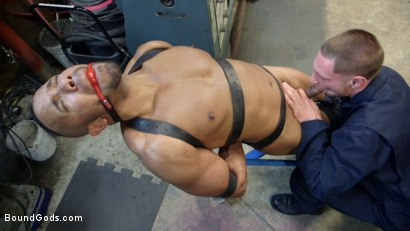 Photo number 3 from Zapped, Beaten & Fucked! - Lazy Shop Worker Takes His Punishment shot for Bound Gods on Kink.com. Featuring Jay Rising and Troy Sparks in hardcore BDSM & Fetish porn.
