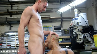 Photo number 7 from Zapped, Beaten & Fucked! - Lazy Shop Worker Takes His Punishment shot for Bound Gods on Kink.com. Featuring Jay Rising and Troy Sparks in hardcore BDSM & Fetish porn.