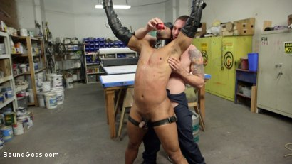 Photo number 8 from Zapped, Beaten & Fucked! - Lazy Shop Worker Takes His Punishment shot for Bound Gods on Kink.com. Featuring Jay Rising and Troy Sparks in hardcore BDSM & Fetish porn.