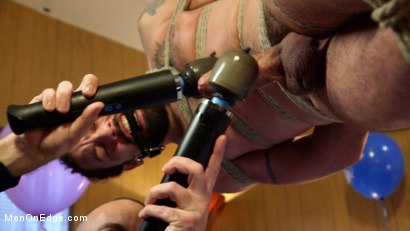 Photo number 5 from Ringing in the New Year with Relentless Edging & Ass to Mouth! shot for Men On Edge on Kink.com. Featuring DJ in hardcore BDSM & Fetish porn.