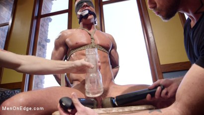 Photo number 8 from Chiseled guy begs to cum under intense edging shot for Men On Edge on Kink.com. Featuring Rex Cameron in hardcore BDSM & Fetish porn.