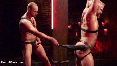 Photo number 6 from Dirk Caber and Jessie Colter Share a Night of Pain and Pleasure shot for Bound Gods on Kink.com. Featuring Dirk Caber and Jessie Colter in hardcore BDSM & Fetish porn.