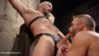 Photo number 1 from Dirk Caber and Jessie Colter Share a Night of Pain and Pleasure shot for Bound Gods on Kink.com. Featuring Dirk Caber and Jessie Colter in hardcore BDSM & Fetish porn.