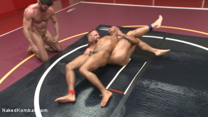 Photo number 6 from Muscle on Muscle: Live Tag Team Oil Match Between 4 Ripped Hunks! shot for Naked Kombat on Kink.com. Featuring Dirk Caber, Billy Santoro, Hugh Hunter and Troy Sparks in hardcore BDSM & Fetish porn.